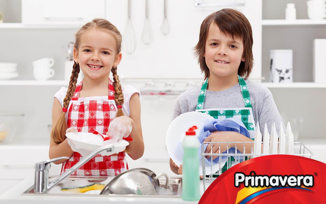 Tareas del hogar para niños en vacaciones